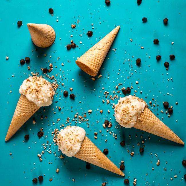 arty ice cream display